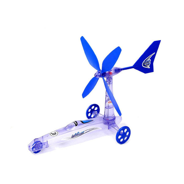 Novelty DIY assembled toys wind power car model,children's educational scientific Experiment Green Energy Removable car toy