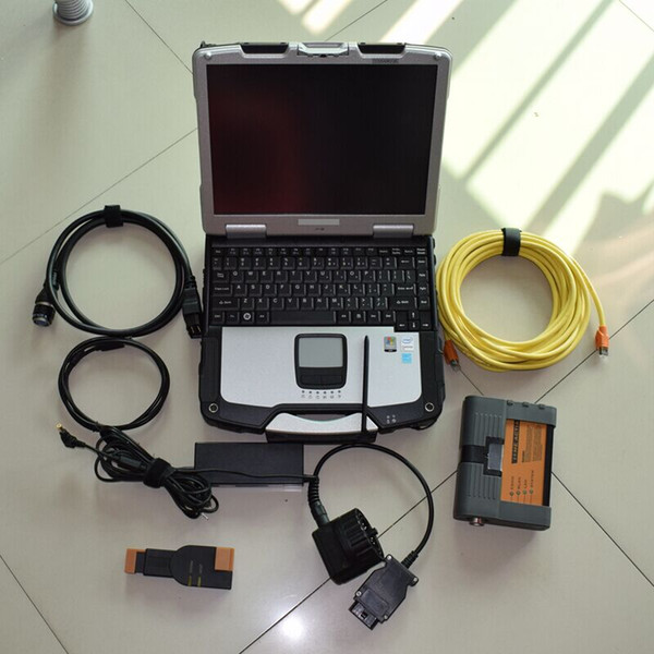 Best quality for bmw icom a2 with laptop + ista v2018.9 hdd + for cf-30 Laptop ready to work 3in1 programming & diagnostic