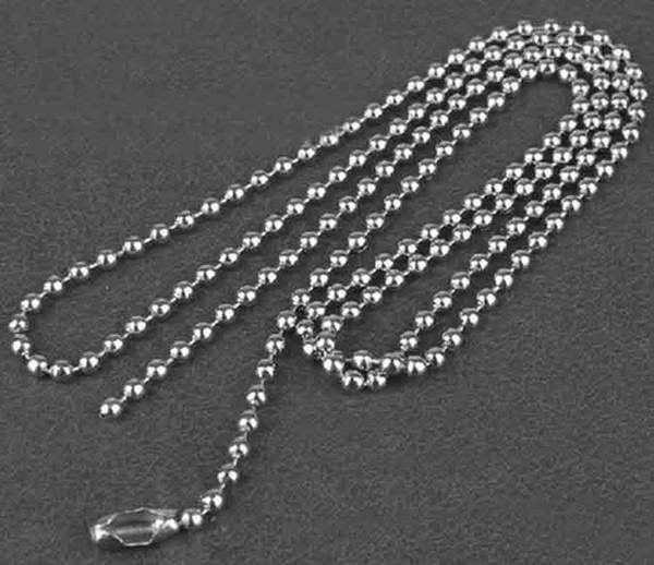 neue Edelstahl Halskette DIY Mode 2,4 mm * 60 cm Perlen Ketten für Halsketten Schmuck