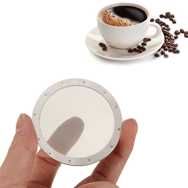top popular Solid Stainless Steel Reusable Washable Mesh Coffee Screen Filter For Aeropress Coffee Maker Filter Reusable Filters ZA2382 2019
