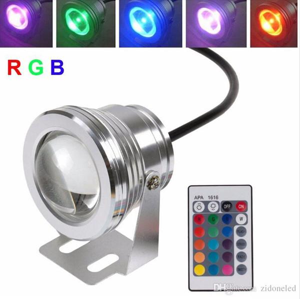 10W RVB piscine lumières led fontaine sous-marine lumière DC12V sous-marine led lumières ourdoor luminaire