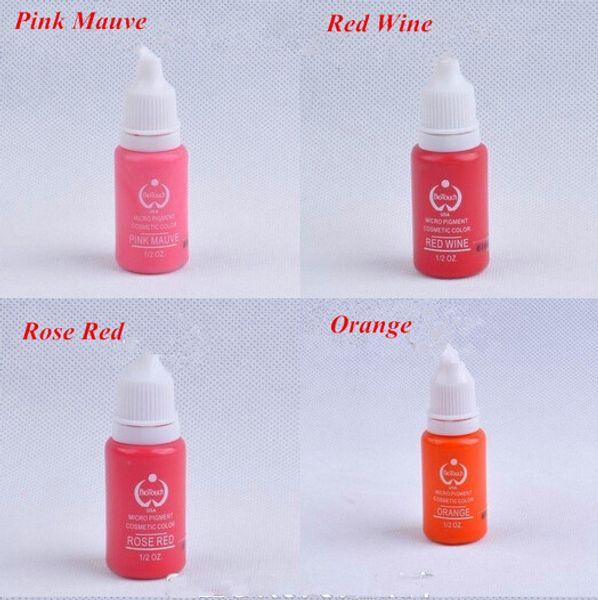 Atacado-Atacado 4 peças / lote máquina de bordar 3d Tinta Maquiagem Manual Tatuagem Permanente Maquiagem Pigmentos para delineador labial