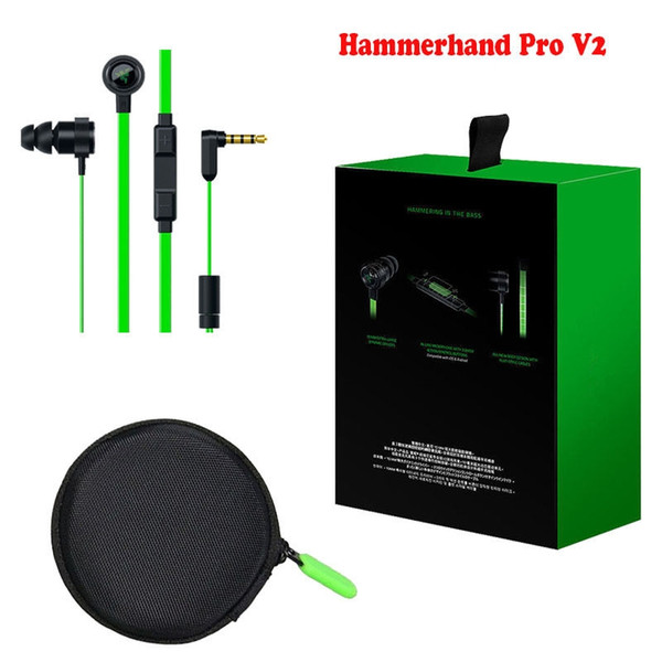 Razer Gaming Hammerhead Pro V2 PC Music Gaming Headphones In-Ear Earphone Noise Isolation Earhubs For PC Laptop With Retail Package & MIC