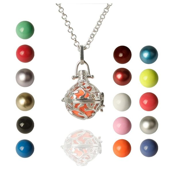 New Arrival Mexican Bola Cage Pendant Angel ball new Caller Sounds Harmony Ball with Chain Necklace Jewelry Gift AA104