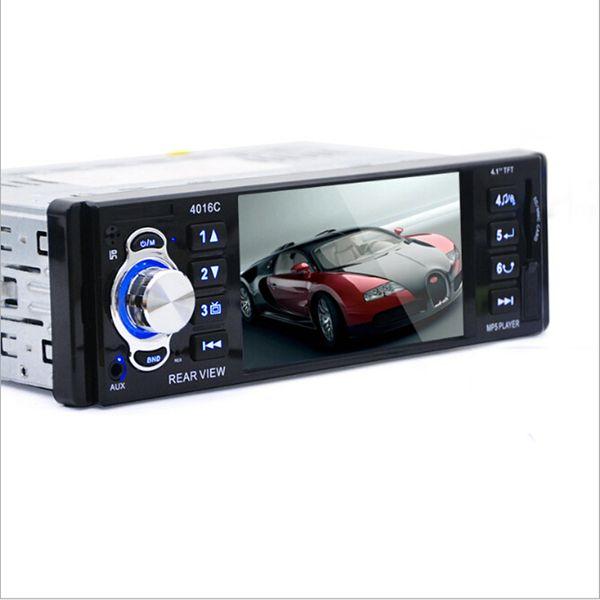 Vente en gros- 4.1inch écran voiture stéréo DVD Radio FM MP3 MP5 lecteur HD Bluetooth Phone avec port USB / SD MMC voiture électronique 1 DIN