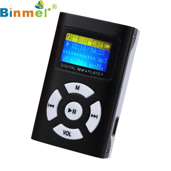Wholesale- USB Mini MP3 Player LCD Screen Support 32GB Micro SD TF Card