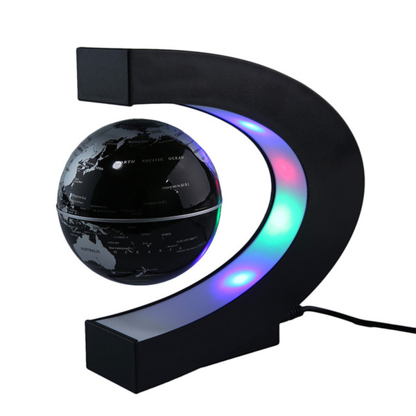 LED Magnetic Suspension Toy Globe Levitazione Floating Globe Lead Light Lampada da tavolo Illuminazione natalizia per Natale Decor Halloween