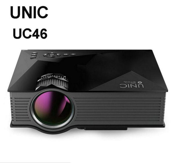 UNIC UC46+ Wireless WIFI Mini Portable Projector 1200 Lumen 800 x 480 Full HD LED Home Cinema Support Miracast/Airplay Proyector UC46