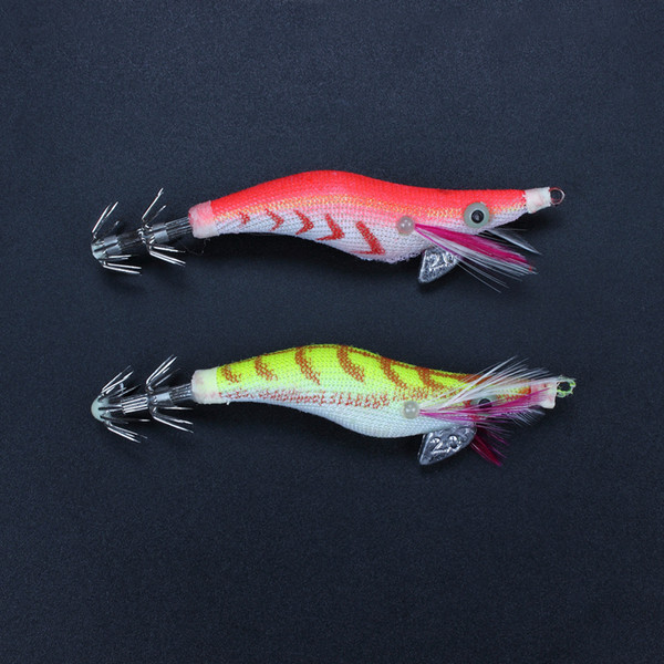 Noctilucent Glow Beard Shrimp Prawn Lures Cuttlefish Squid Jigs Baits Hook