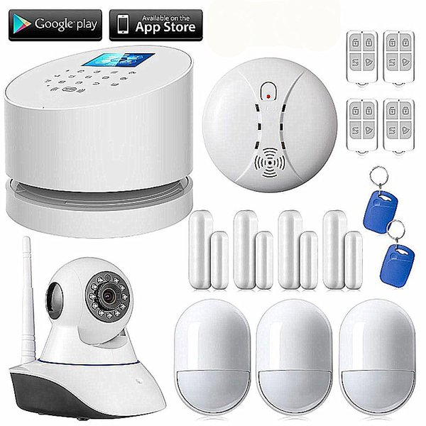 LS111- Original W2 WiFi GSM PSTN RFID Security Alarm System Wifi IP Camera GSM alarm Android IOS App remote control Smoke