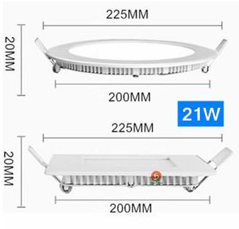No-Dimmable 21W Round