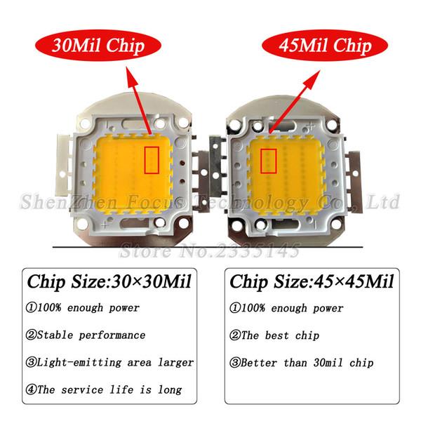 45mil 200W High Power LED Chip 24000LM White 30-34V 7000MA DIY