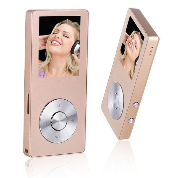 Wholesale- HiFi Metal Music MP3 Player Built-in Speaker 8GB 1.8 Inch Screen Play 80 hrs can Support 128GB SD Card with Video Alarm FM Radio