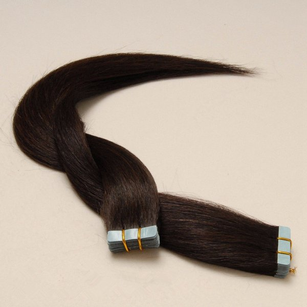 """High Grade 8A-Indian remy human hair Straigt wave 14""""-26"""" PU tape on hair Extensions Skin Weft hair extensions 100g pack 40pcs dhl free"""