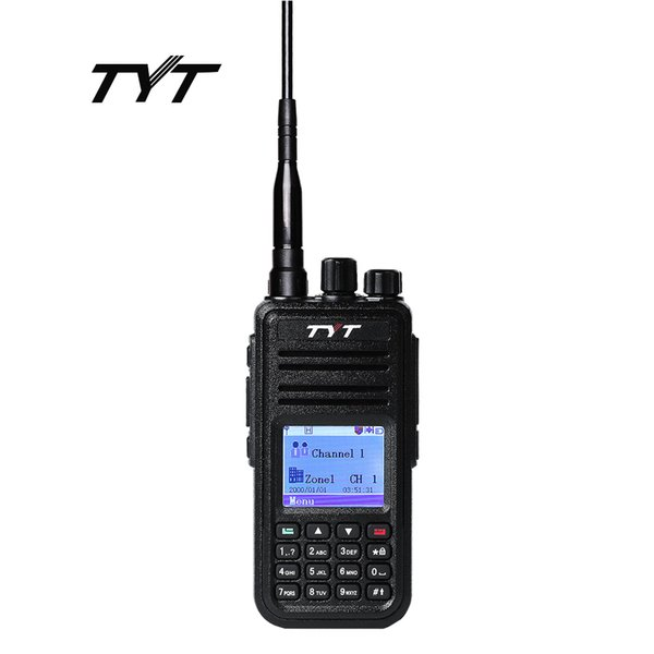 Großhandels-TYT MD-380 Funksprechgerät DMR Digital Mobilfunk UHF 400-480 MHz Tytera MD380 Radio-ProgrammierkabelCD