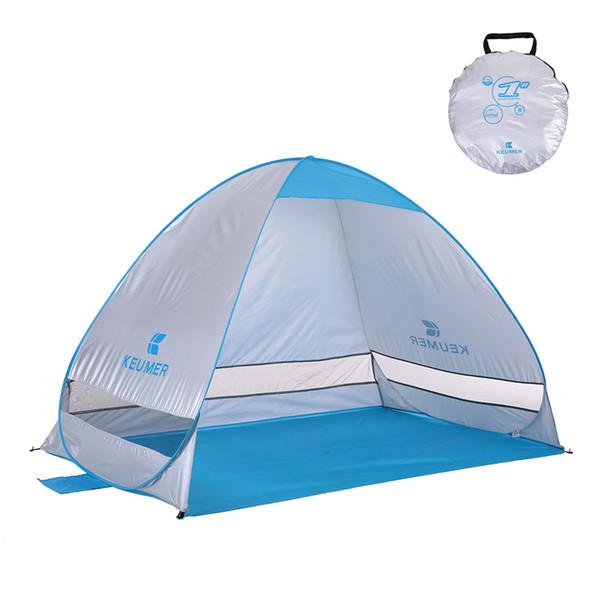 Keumer Automático Barracas de Praia 2 Pessoas Barraca de Camping Uv Proteção Shelter Barraca Ao Ar Livre Instantâneo Pop Up Tenda de Verão 200 * 120 * 130 CM