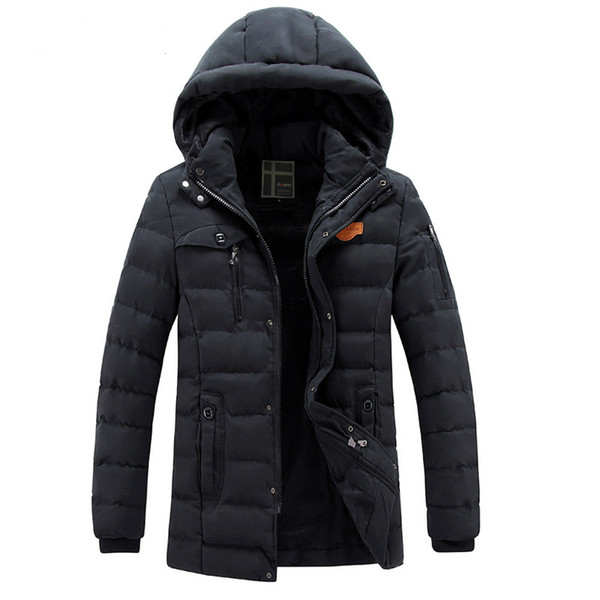 Brand Winter Parkas Jackets Hoodies Mens Thicken Coats Fur Lining Warm Outwear Overcoat Casual Tops Snow Clothing Clothes