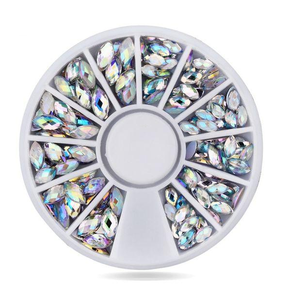 best selling Hot Sale Fashion Shiny 3D AB Nail Art Decoration Horse Eyes Gem Glitters Shiny DIY Nail Wheel Tips Decorations Beauty Classic Women Accessor