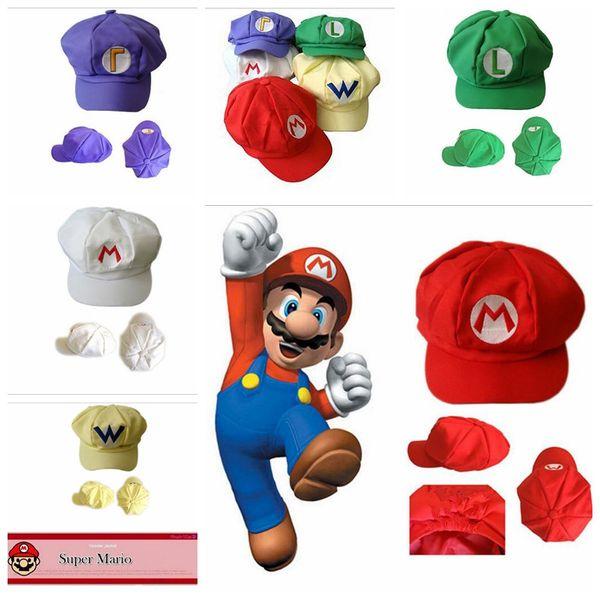 New Adult Cartoon Super Mario Hats Cosplay Fashion Costume Baseball Hats  Caps Sneaker Hip Hop Berets