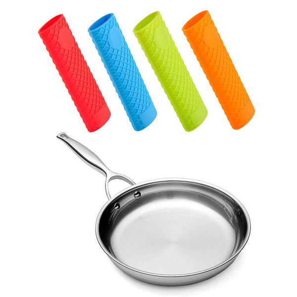 Factory Price!! Silicone Handle Cover For Cast Iron Skillet Holder Protection Sleeve Multicolor Anti-heat Resistant Sleeve 500pcs