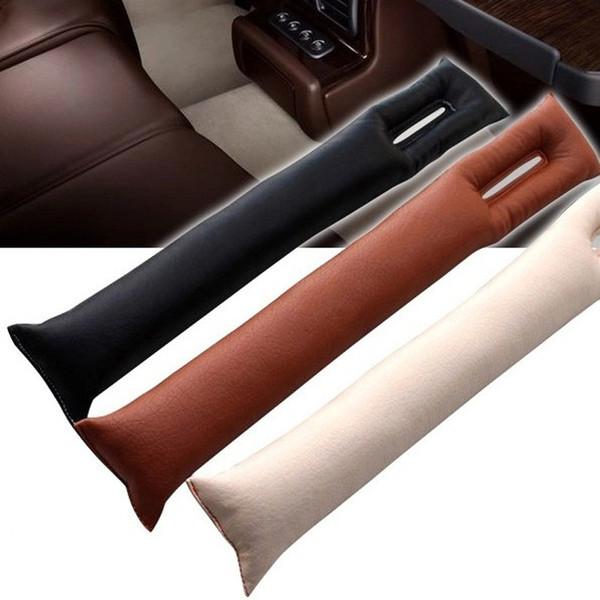 Sahte Deri Araba Koltuğu Gap Pad Dolgu Kılıf Spacer Dolgu Dolgu koruyucu Kılıf Oto Temizleyici Temiz Yuvası Fiş Stoper Sopa Sticker dekor