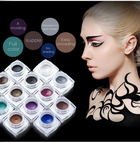 HUAMIANLI Glitter Eyeshadow Gel Metallic Powder Pigment Perfume Shining Cosmetics 3D Eye Makeup Highlighter Creamy Palette