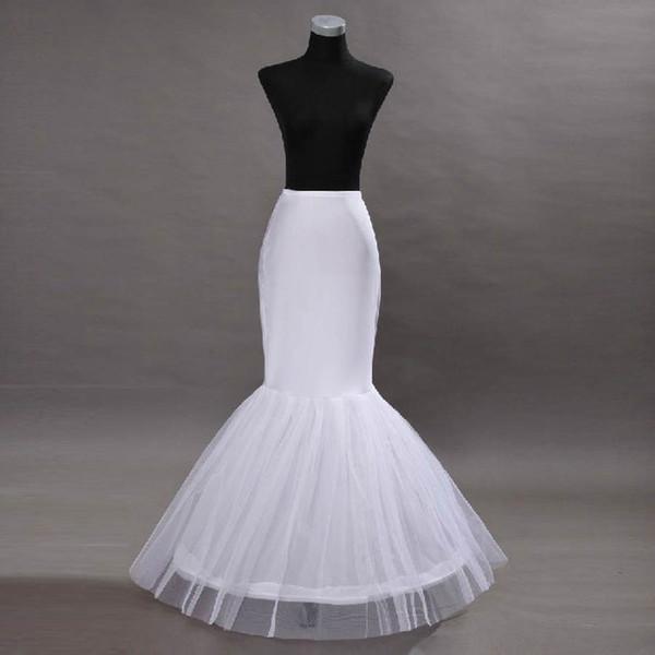 Blanco sirena vestidos de novia enagua nupcial sirena Crinolina enagua trompeta Underskirt noche Prom Bustles tamaño libre