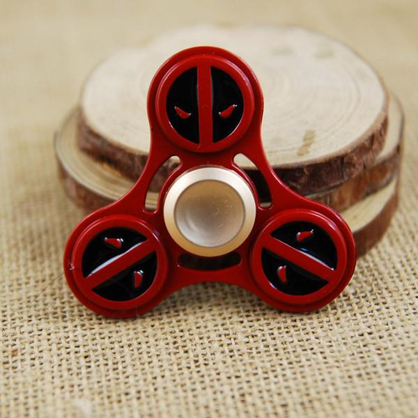 best selling Tri-Spinner Metal Hand Spinner EDC Finger Spinner with Bearing Deadpool Fidget Spinner Anti Stress Toys