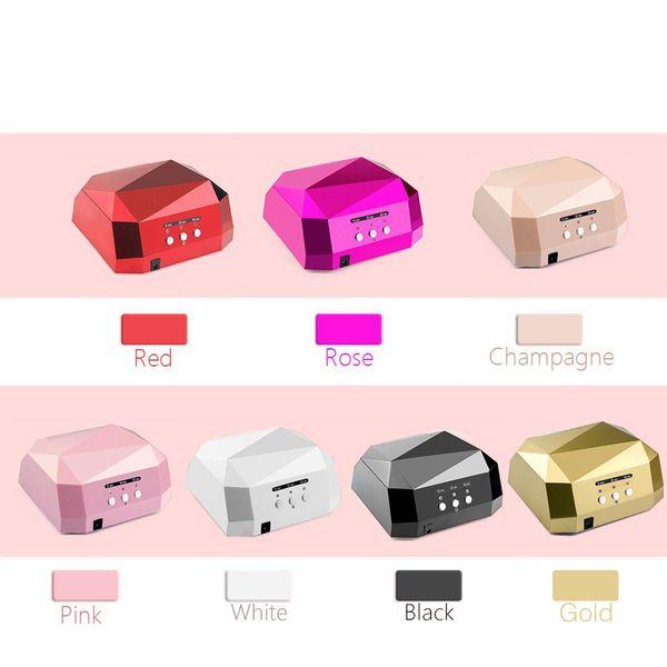 Free shipping 36W UV Lamp Nail Dryer UV LED Lamp for Nails Gel Dryer Nail Lamp Diamond Shape Curing for UV Gel Polish Nail Art Tools