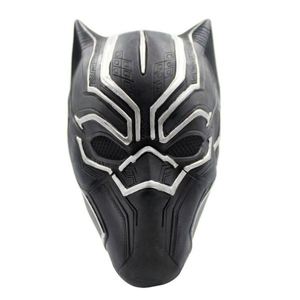 Mascherina della pantera nera Movie Fantastic Four Cosplay Maschera di lattice per Halloween Party Decoration Movie Cosplay Mask Spedizione gratuita