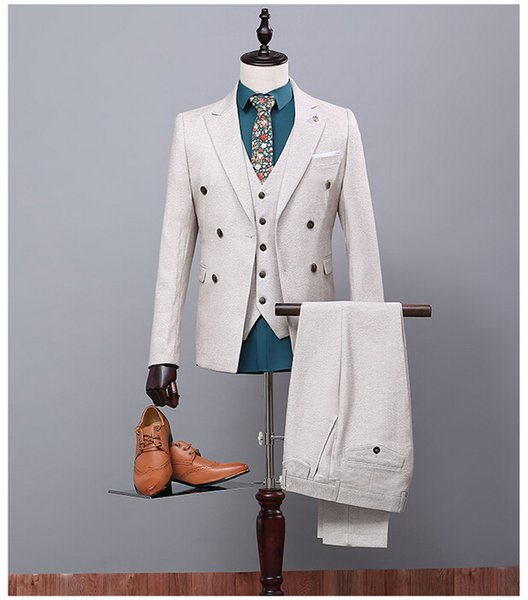 Off White 2017 Man Prom Suits Ternos Masculino Para Casamento Mens ...