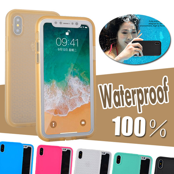 100% Sealed Waterproof Diving Underwater Full Body Coverage Soft TPU Cover Case For iPhone XS Max XR X 8 Plus 7 6 6S 5S Samsung Galaxy S9 S7