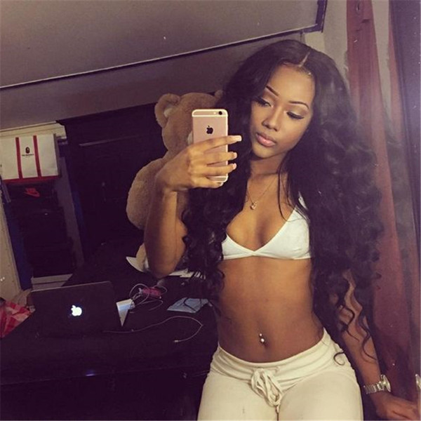 Hot Wavy Glueless Full Lace Wigs Brazilian Lace Front Wigs With Baby Hair Body Wave Full Lace Human Hair Wigs For Black Women