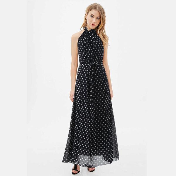 Plus size black chiffon dress