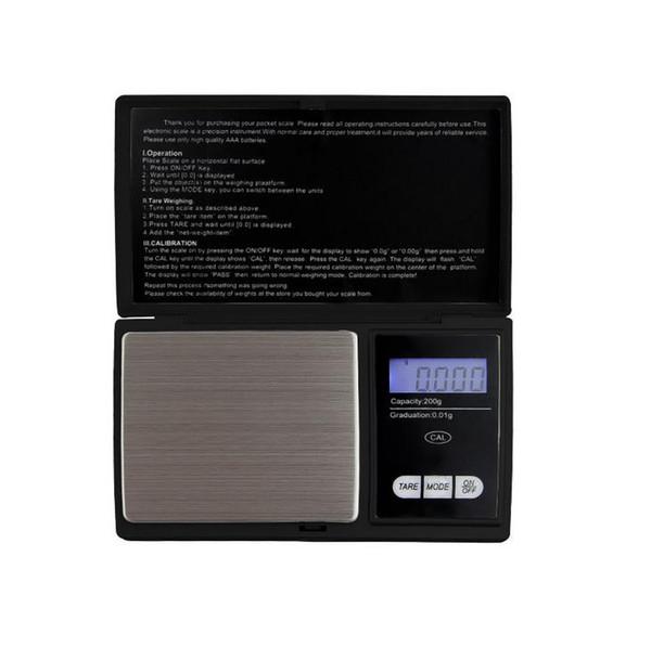 Fashion 100gx 0.01g 200gx0.01g500gx0.01gMini LCD Electronic Digital Pocket Scale Jewelry Gold Diamond Weighting Scale Gram Weight Scales