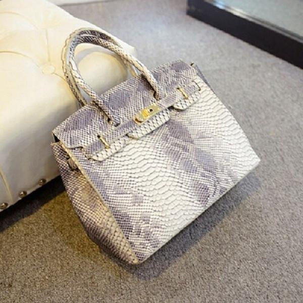 Großhandel-Marke Mode Serpentine Schlangenhaut Taschen Frauen Handtasche 2016 neue hochwertige Frauen Messenger Bags Designer Leder Umhängetasche