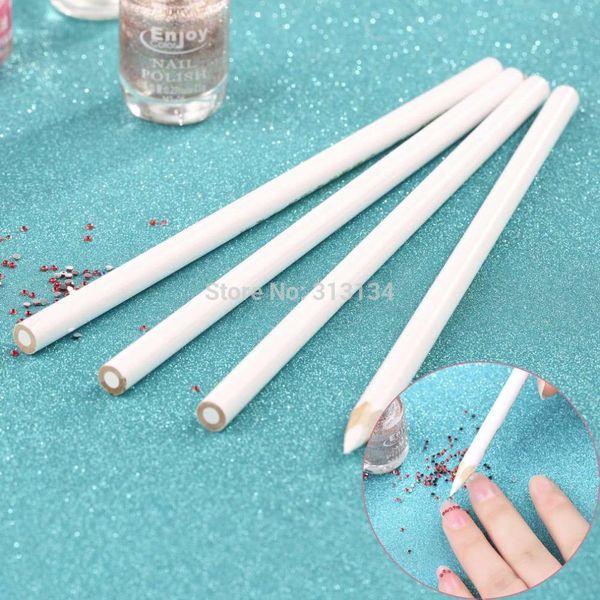 4pcs/set Nail Art Rhinestones Gems Picking Crystal Tool Wax Pencil Pen Picker Rhinestones Pickup Pens Nail Art Decoration Tool