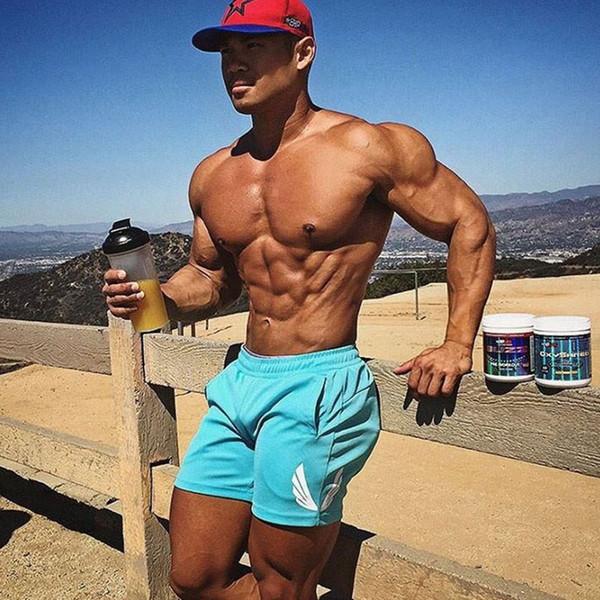 Pantaloncini sportivi Fitness Uomo Palestre Pantaloncini corti da spiaggia per uomo bodybuilding corti moda estiva