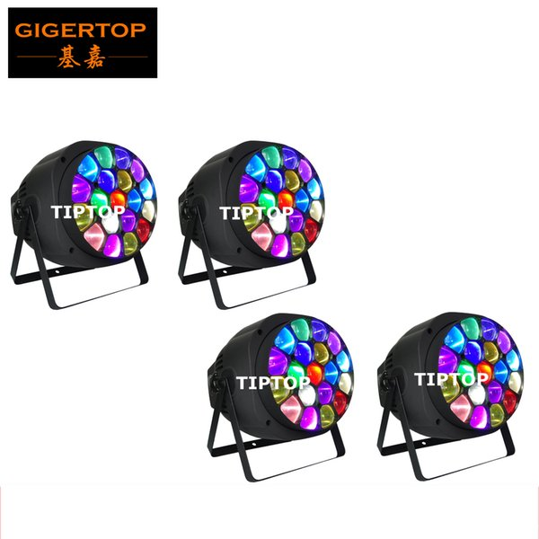 Freeshipping 4 Pack Big B Eye Led Zoom Par Light New Design 19x15W high power RGBW 4 in 1 LED Full Color LCD Display Led Par Can TP-P82