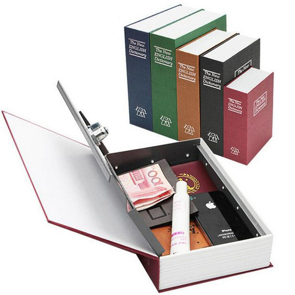 Free Shipping Large Size Disguised English Dictionary Secret Book Safe Box with Password Lock Mini Strong Box for Money Safe