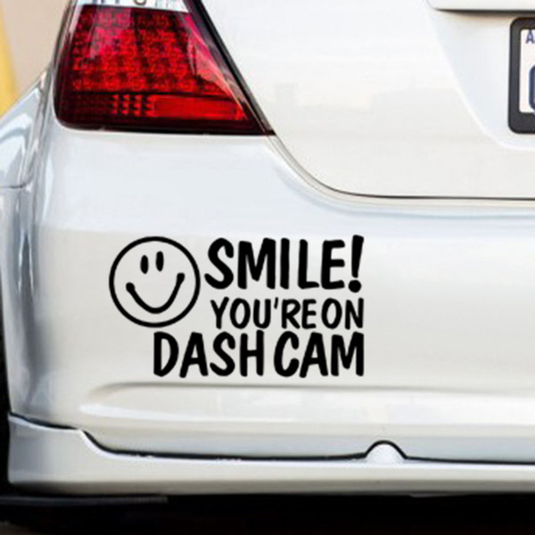 SMILE!YOU'RE ON DASH CAM Car/Van/Window/Bumper Novelty Camera Security Sticker