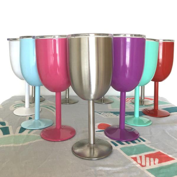 Термальная / холодная изоляция 10 унций Очки для вина для стиля RTIC WINE GLASS Cup Goblet Bilayer 10oz Бокалы для вина True Nor