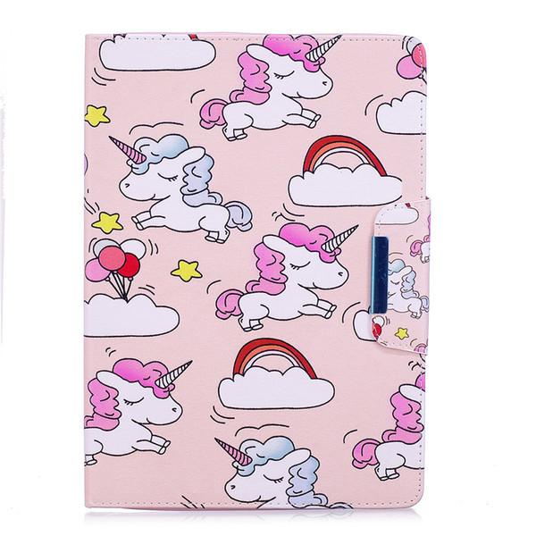 magnetische intelligente Abdeckung Tabelle Ledertasche Marmor Einhorn Flamingo Malerei Bling für Ipad Pro 9.7 2017 Ipad Mini Air 2 3 4 Samsung Tab T815