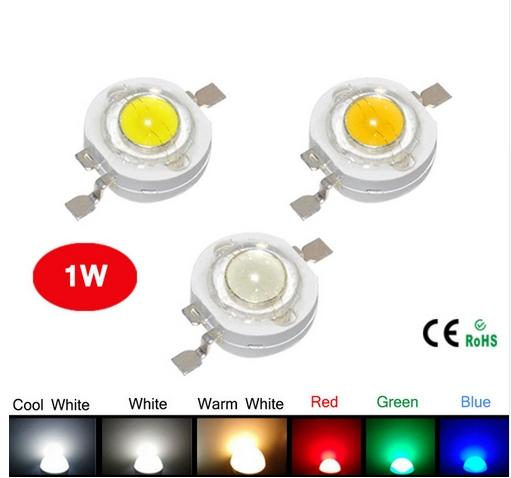 best selling High Power LED Chipset 45mil LED Lamp 5 Colors R G B CW WW 3 to 4V 1W 350mA 120lm