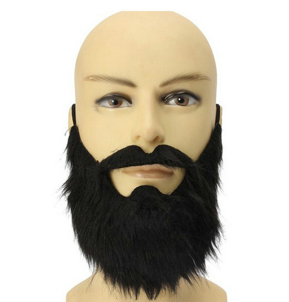 Wholesale New Arrival Costume Party Halloween Fake Mustache Moustache Funny Fake Beard Whisker For Pirate Dwarf Elf James Harden DH053
