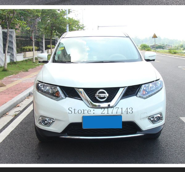 ABS Chrome Front Head Fog Light Lamp Cover for 2014 2015 2016 Nissan X-Trail X Trail Fog Light Cover Trim Car styling Accessories2pc