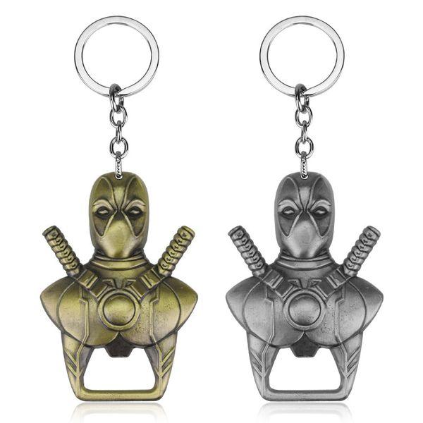 2 colores más nuevos Anime Cartoon X-men abrebotellas de Deadpool llavero Chaveiro Aleación anillo dominante recuerdo del partido WA1968