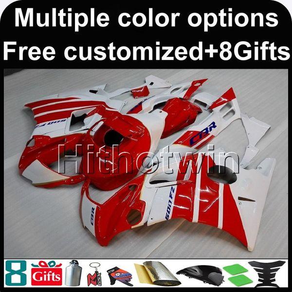 23colors + 8Gifts carénage ABS blanc rouge pour CBR600F2 91 92 93 94 Nouveau carénage Kit de carénage pour Honda CBR600 CBR 600 F2 1991 1992 1993 1994