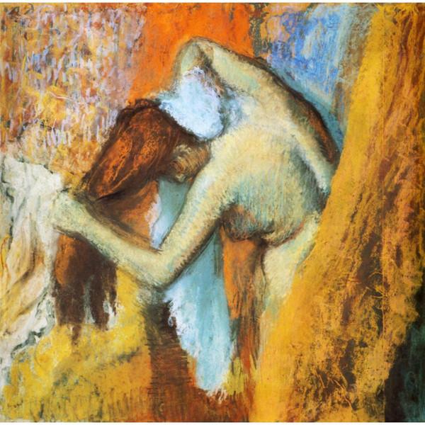 Peintures à l'huile par Edgar Degas Femme à sa toilette Peint à la main, art moderne, décoration murale, de haute qualité
