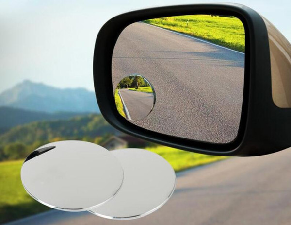 """2"""" Round Stick On Rear-view Blind Spot Convex Wide Angle Mirrors Car Rear view mirror Rain Shade"""